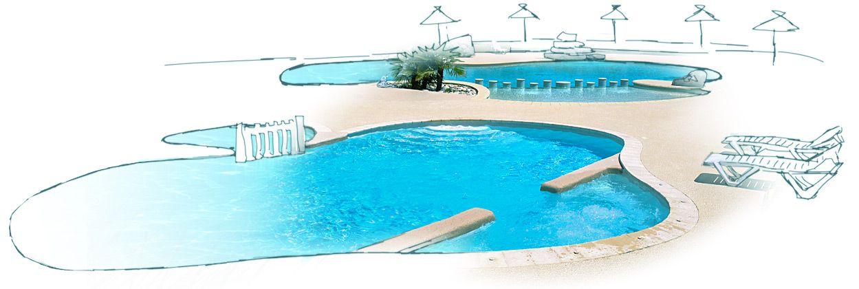 Les piscines du camping