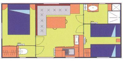 Plan du Mobil-Home Calvi