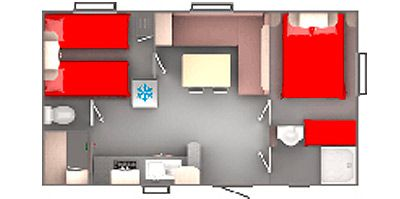 Plan du Mobil-Home Evolution 27