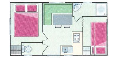 Plan du Mobil-Home Farniente
