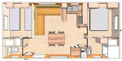 Plan du Mobil-Home Loft 79