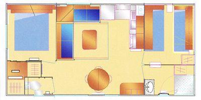Plan du Mobil-Home Osiris