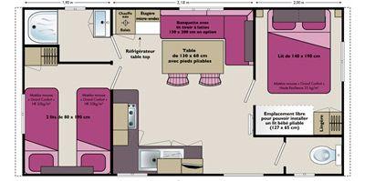 Plan du Mobil-Home Super Mercure