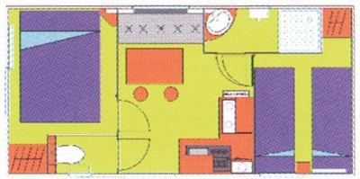 Plan du Mobil-Home Sympa 18