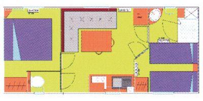 Plan du Mobil-Home Sympa 23